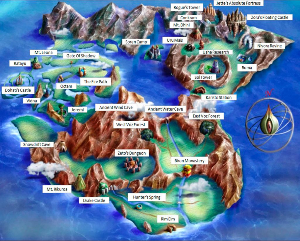 Mapa de Legend of Legaia
